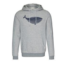 """ARMEDANGELS Hoodie """"Larry Big Whale"""" grey melange"""