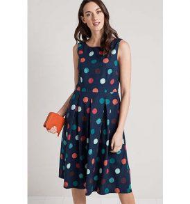 "SEASALT Dress ""Merthen"" sponge spot night"