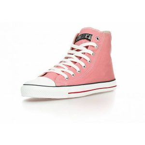 "ETHLETIC ""Fair Trainer"" Hi Cut, pink/white"