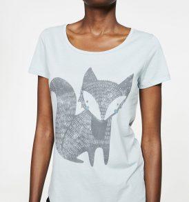 """RMEDANGELS T-shirt """"Mari Fox"""" faded mint"""