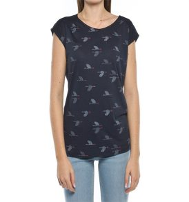 "ARMEDANGELS T-Shirt ""Lili Crane Dance"" navy"