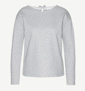 Armedangels Sweater Dotted Bow grey melange