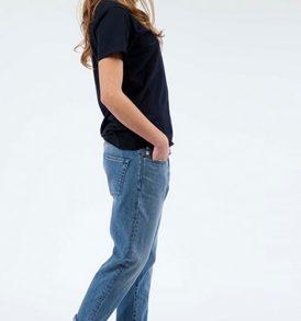 "MUD Jeans ""Boyfriend Basin"" stone blue"