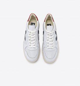 "VEJA Sneaker ""V10"" Leather extra white nautico pekin"