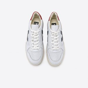 "VEJA Sneaker ""V10"" Leather extra white nautico pekin"