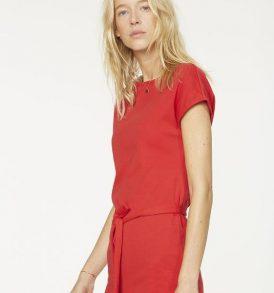 "ARMEDANGELS Dress ""Alada"" ribbon red"