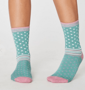 "THOUGHT Damensocken ""Jarrell Spot and Stripe Bamboo Socks"""