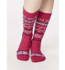 """THOUGHT """"Soft Wool Socks"""" ruby"""