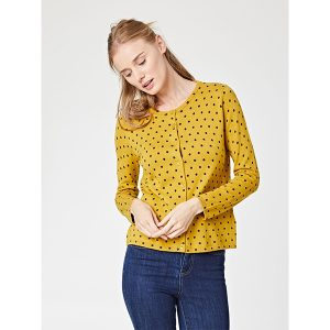 """THOUGHT Cardigan """"Hayberg"""" sunflower"""