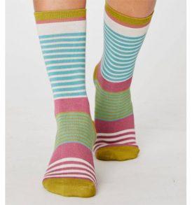 Vevina Stripe Bamboo Socks