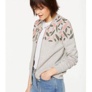 "ARMEDANGELS Jacket ""Uta Pepper Rose"" khaki-peach – light grey melange"
