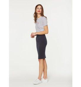 ARMEDANGELS T-Shirt Lida bisou on stripes navy/white