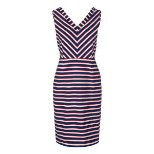 "KING LOUIE Dress Skipper Stripe ""Lotta"" royal blue"