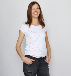 "GARY MASH T-Shirt ""Asheville"" flamingos"