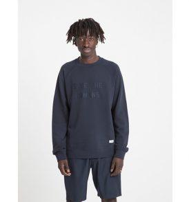 "THINKING MU Sweater ""Save the humans"" blue navy L"