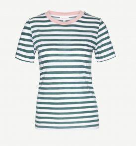 "ARMEDANGELS T-Shirt ""Lida Bold Stripes"" palm green-white"