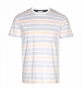 "ARMEDANGELS T-Shirt ""James Inside Stripes"" dusty apricot"