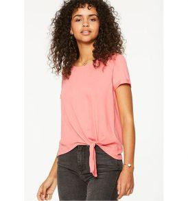 "ARMEDANGELS T-Shirt ""Liese Knot"" vibrant coral"