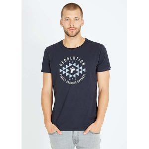 "RECOLUTION T-Shirt ""Reco est"" navy"