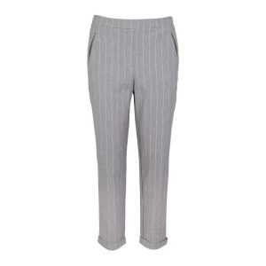 "FRIEDA SAND Trousers ""Daphne"" grey pinstripe"