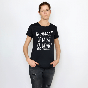 "GARY MASH T-Shirt ""be aware"" black"