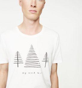 "ARMEDANGELS T-Shirt ""Dean Wood Hood"" off white"