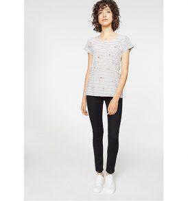 "ARMEDANGELS T-Shirt ""Liv Star Sky"" off white-black"