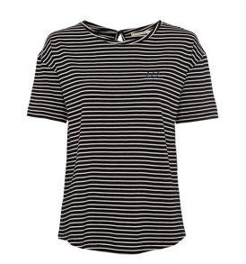"ARMEDANGELS T-Shirt ""Melissa Lalala"" black-off white"