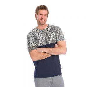 """BLEED T-Shirt Herren """"Feathery"""" navy"""