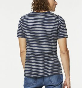 "ARMEDANGELS T-Shirt ""Marc Irregular Stripes"" empire blue"