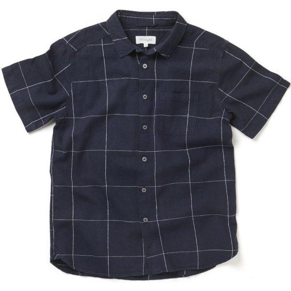 """THOUGHT Hemd """"Curtis Short Sleeve, Hemp Check Shirt"""""""