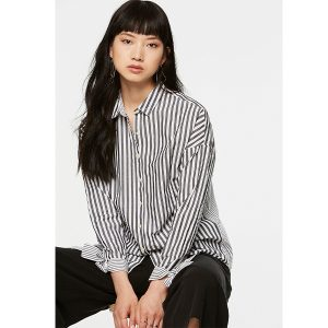 "ARMEDANGELS Bluse ""Bennu Stripe Mix"" off white-black"
