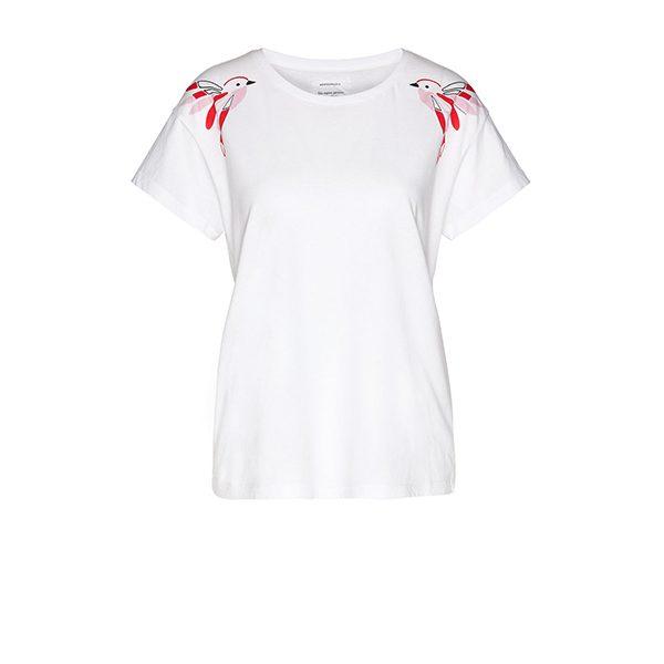 "ARMEDANGELS T-shirt ""Nela Twin Birds"" white"