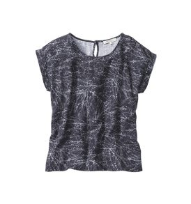 """RECOLUTION Bluse """"Tencel Bluse Twigs"""" anthracite"""