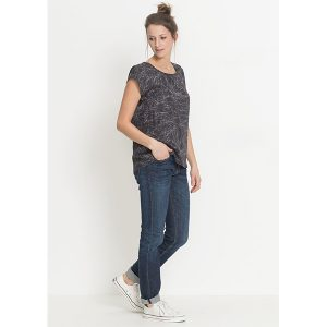 "RECOLUTION Bluse ""Tencel Bluse Twigs"" anthracite"
