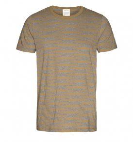 """ARMEDANGELS T-Shirt """"Marc Irregular Stripes"""" golden sand"""
