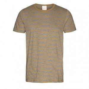 "ARMEDANGELS T-Shirt ""Marc Irregular Stripes"" golden sand"