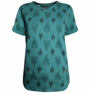 "GARY MASH Sweatshirt ""Morning Dew"" evergreen AOP"