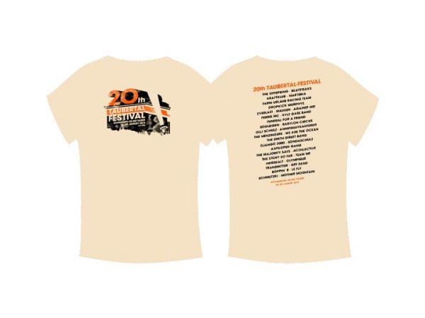 "Taubertal Festival T-Shirt 2015 ""Classic Sand"" Man"