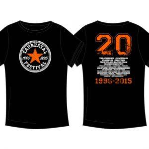 """Taubertal Festival T-Shirt """"Stern black"""" 2015 Herren"""