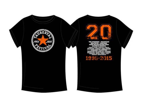 """Taubertal Festival T-Shirt """"Stern black"""" 2015 Man"""
