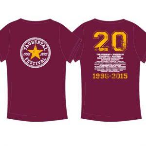 """Taubertal Festival 2015 T-Shirt """"Stern burgundy"""" Herren"""