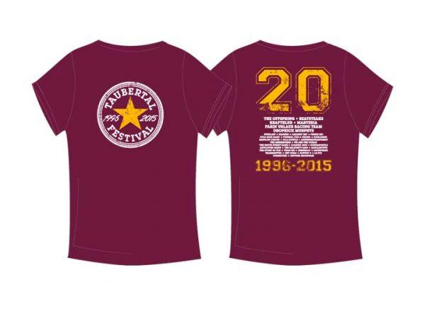 "Taubertal Festival T-Shirt ""Stern burgundy"" Man"