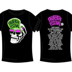 """Taubertal Festival T-Shirt 2016 """"Skull Black"""" Unisex"""