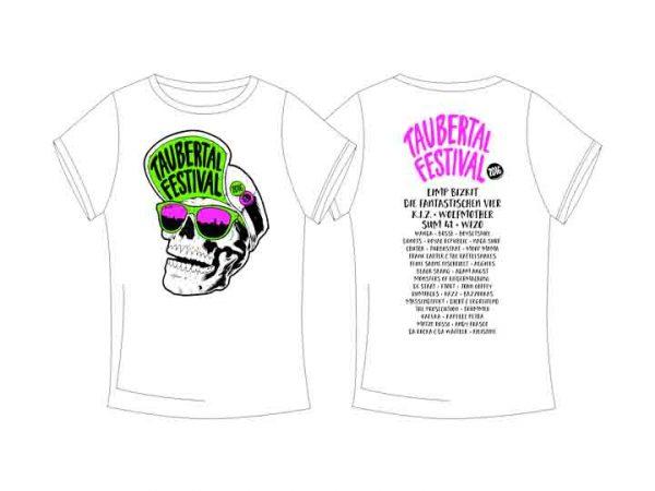 """Taubertal Festival 2016 T-Shirt """"Skull White"""" Unisex"""