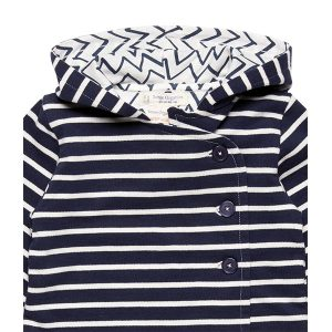 "SENSE ORGANICS ""ARON Baby Reversible Jacket"" navy stripes"