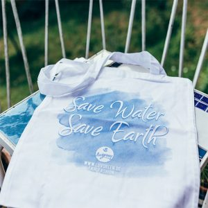 "LUVGREEN Fairtrade Baumwolltasche ""Safe water, save earth"""