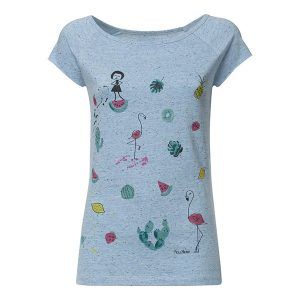"FELLHERZ Damen T-Shirt ""Lovely things Cap Sleeve"" iceblue"
