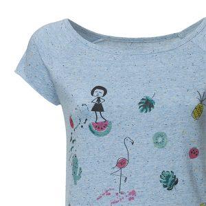 """FELLHERZ Damen T-Shirt """"Lovely things Cap Sleeve"""" iceblue"""