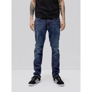 "NUDIE JEANS ""Dude Dan"" dark deep worn"